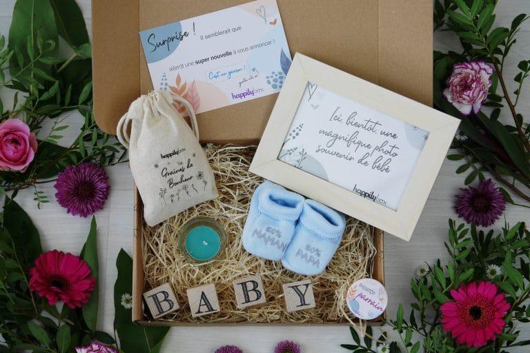 Annoncer sa grossesse aux futurs grands-parents avec Happily Box